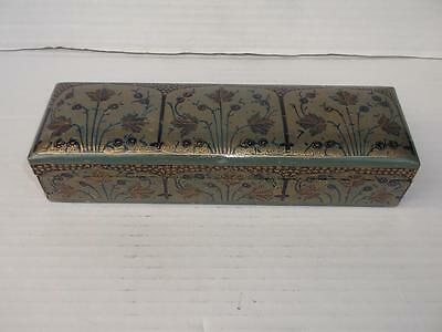 620 / Early 20Th Century Middle Eastern Sandalwood Painted & Lacquered Box