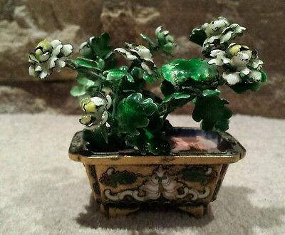 A stunning 19th century  Chinese Enamelled blossoming peony tree. Circa 1890.