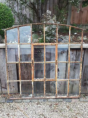 Reclaimed Cast Iron Window Arched Large Size Decorative Industrial