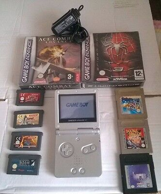 Console Nintendo Gameboy Advance Sp Con Accessori E Giochi