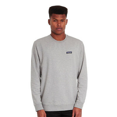 Patagonia - P-6 Label Midweight Crew Sweatshirt Feather Grey Pullover Rundhals