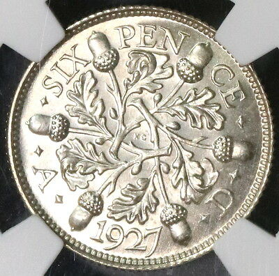 1927 NGC PF 66 Silver 6 Pence Proof GREAT BRITAIN Coin (16112106C)