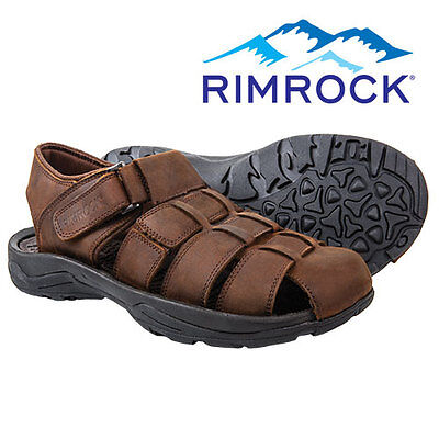 Rimrock Brown Leather Fisherman Sandals - Men's 12