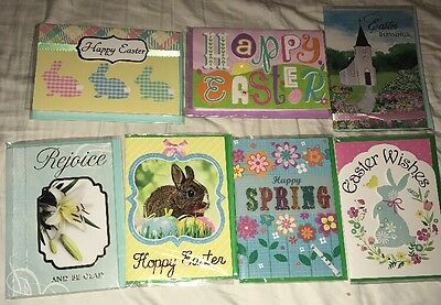 Lot Of 7 Assorted Easter Greeting Cards With Envelopes  New 3-D Voila 1a
