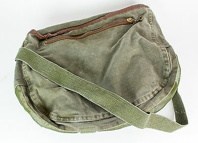 Canvas Cloth Trout Fishing Creel Vintage Army Green Mesh Ventilated Shoulder Bag