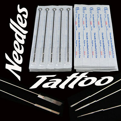 50pcs Sterile Tattoo Needles Steel Round Liner Shader Varied 33 Sizes Supplies h
