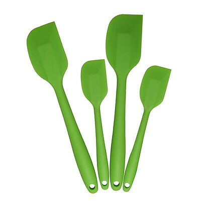Thboxs Green 4 Pack Silicone Spatula Hygienic Coating Cooking Utensil Tool Set