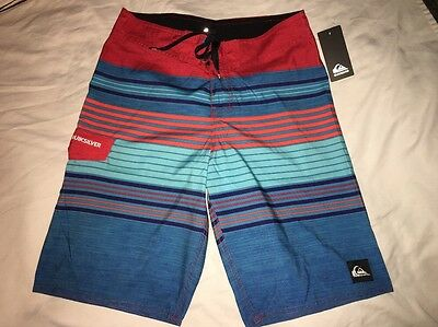 QUIKSILVER Boys sz 26 board shorts swim trunks NWT