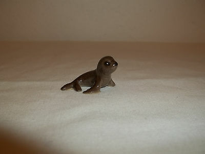 "Miniature Brown Ceramic Seal Baby 1"" Long"