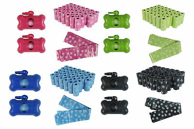 Dog Poop Bags Pack of 680 and 2 x Dispensers Dog Waste Dog **Great Value**