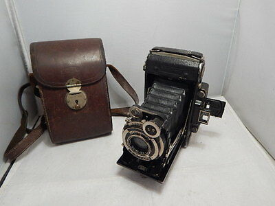 ZEISS IKON Super Ikonta 530/2 Camera Carl Zeiss Jena Tessar Lens + Leather Case