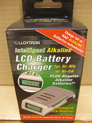 Lloytron Intelligent Alkaline Lcd Aa Aaa Battery Charger Ni-Mh Or Ni-Cd