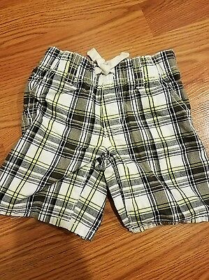 Gymboree Baby Toddler Boy Size 2t Plaid Shorts-CUTE