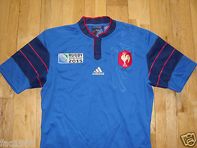 F.F.R. France French Rugby World Cup 2015 Mens Jersey Shirt L S New