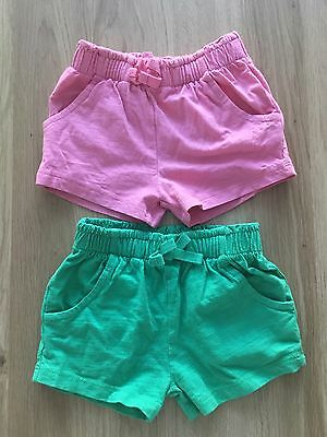 Next Baby Girl Shorts X 2 3 - 6 Months