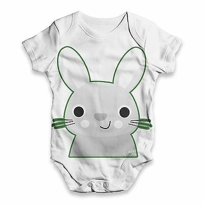 Twisted Envy Bunny Rabbit Baby Unisex Funny ALL-OVER PRINT Baby Grow Bodysuit