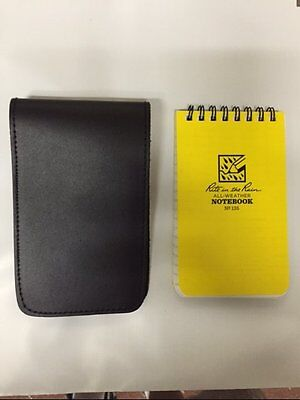 Police Security Leather memo book note pad cover with Rite in the Rain Notebook