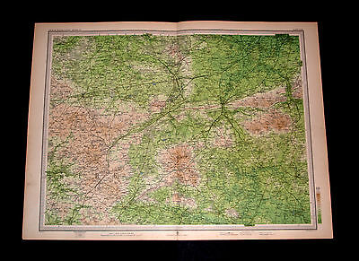 Antique Survey of ALDERSHOT Map Plate 63 by Bartholomew 1903