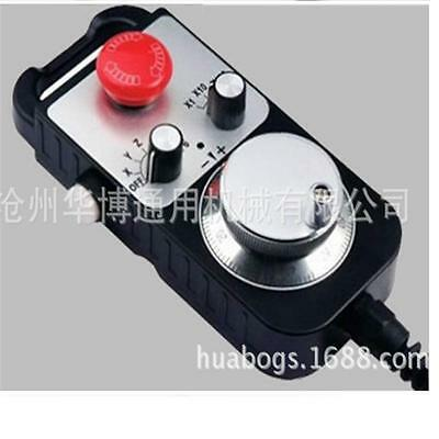 Universal CNC 4 Axis MPG Pendant Handwheel & Emergency Stop for FAGOR GSK System
