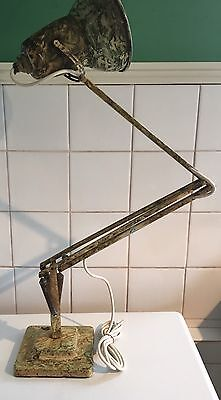 Vintage Early Herbert Terry Anglepoise Lamp With Marbled Decoration