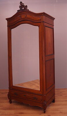 1818 !! Stunning French Mahogany Wardrobe/armoire In Rocailie Style !!