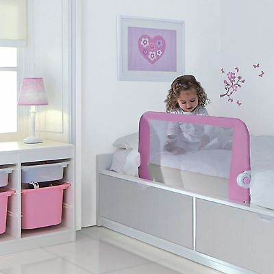 NEW Lindam Easy Fit Bed Guard - Pink - Safe & Secure Your Baby