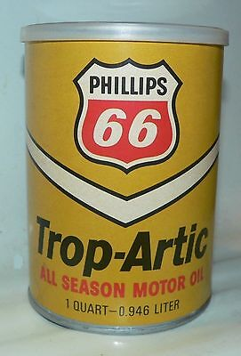 Phillips 66 Trop-Artic Oil Can with Hawaii & Alaska Puzzles From 1973