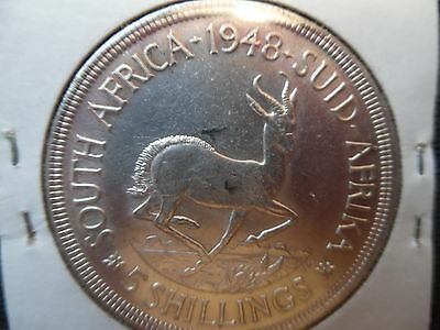 South Africa. 1948 & 1960 .Silver 5 shilling coins. High grade.