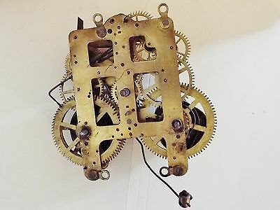 Seth Thomas Clock Movement With Chime Bell  Parts No Reserve