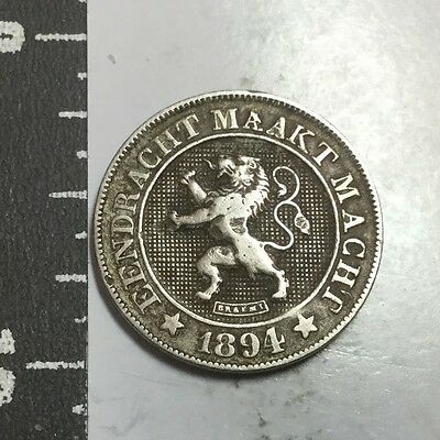 BELGIUM 1894 DUTCH LEGEND 10 Cent coin  nice condition, reverse nick