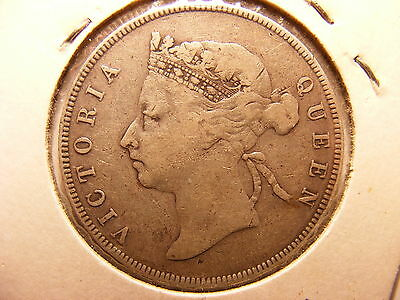 British Honduras 50 Cents, 1897, F+/VF, RARE MINTAGE JUST 20,000 !!!