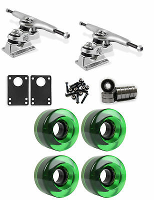 Gullwing Sidewinder Longboard Truck Wheel Combo 54mm x 32mm 83A 368C Green Clear
