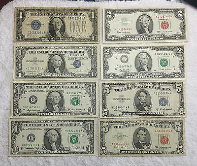 U.S. Paper Currency lot of different styles - free shipping