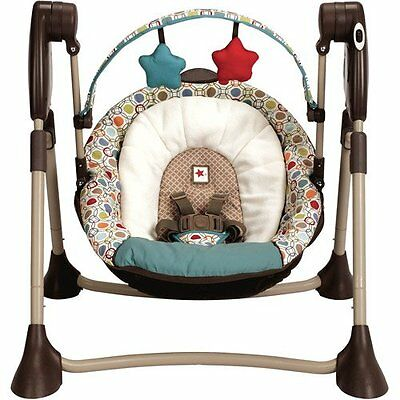 Graco Swing By Me Portable Multiple Baby Swing in Twister New! Free Shipping!