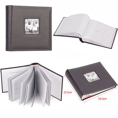 "6x4"" 200 Photos Large Leather Slip in Photo Album Vintage Memo Book 50 pages UK"