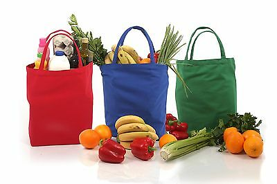 3 Large Shopping bags Eco Friendly Canvas Pack of 3 Stylish Reusable Grocery ...