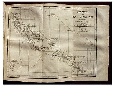 1807 Solomon Islands - NEW GEORGIA - EARLY MAP - Discovery Voyage