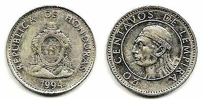 Honduras, 20 Centavos, 1994, 17.8 mm, 2 gr, Nickel Plated Steel, KM# 83.1a