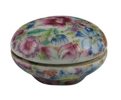Beautiful 19thC Chinese Famille Rose Seal Paste Box