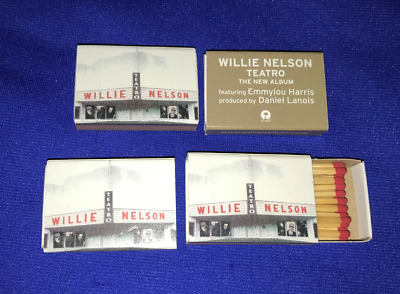 vintage Willie Nelson El Teatro LP PROMO MATCHES MATCHBOX matchbook D.Lanois