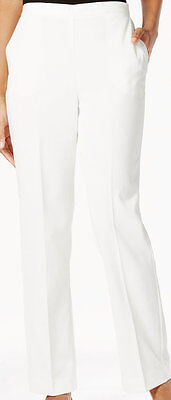 Alfred Dunner Size 20 W Pants Polyester Corduroy STRETCH Ivory Straight-Leg  NEW