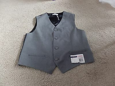 Boy's, Izod, Regular Fit, Gray - Blue Vest, Large (14/16), New with Tags