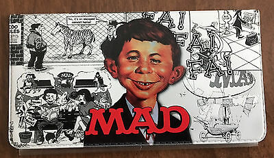 Mad Magazine Alfred E Neuman Vinyl Checkbook Cover - Great Condition