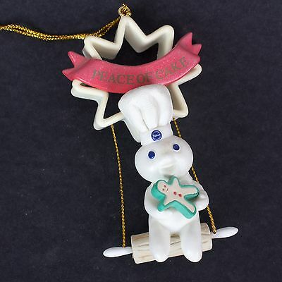 Pillsbury Doughboy Poppin' Fresh Peace of Cake Cookie Cutter Christmas Ornament
