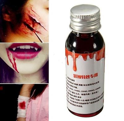 30ml Coagulated Blood Gel Halloween Costume Party Special Effects Makeup Wound ☆