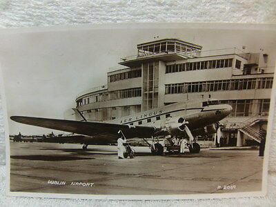 Dublin Airport RP Postcard posted 1955
