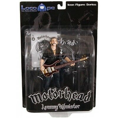 Mot?rhead Action Figure Lemmy Kilmister Rickenbacker Guitar Dark Wood 16 cm