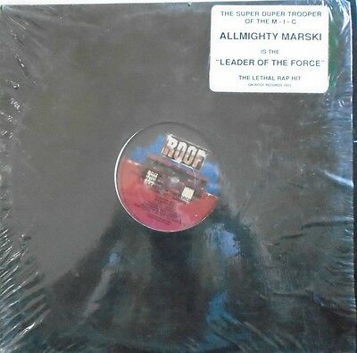 """ALLMIGHTY MARSKI ~ Leader Of The Force ~ 12"""" Single USA PRESS"""