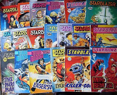 Lot Of 19 Vintage Starblazer Comics