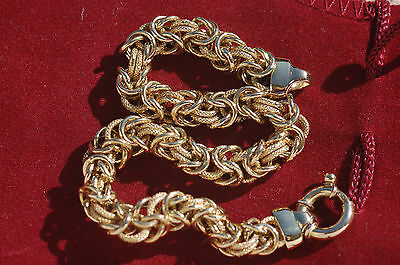 SUPERBE BRACELET MAILLE ROYALE OR  18  K / 750 // 20,5 cm